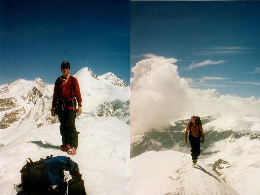 20. Mai 2004 Pollux 4092m mit Hans Dettling