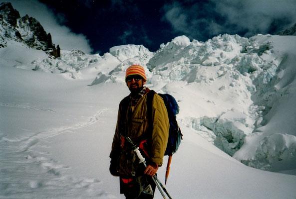11. April 1996 Monte Rosa Hütte 4451m mit Martin Wigger