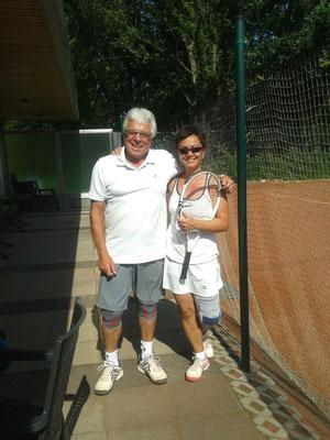 Der Trainer und seine Schülerin