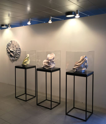 Four of my latest sculptures during the North Sea Jazz Festival as a part of Master Of Rotterdam selection 2018.