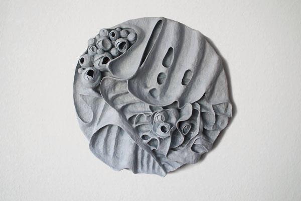 Blossom  (85cm in diameter x 15cm)  polymer clay wall piece