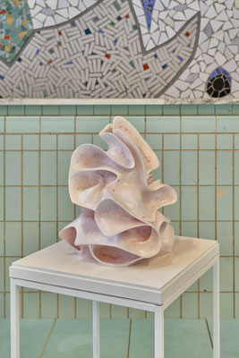 """""""Blossom in pink"""" featured on a group show """"Living Pool"""" in Oostelijk zwembad in Rotterdam."""