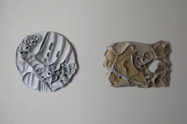 Blossom and Stone garden mounted on the wall