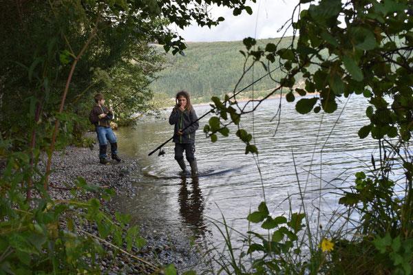 Nessie-Angeln im Loch Ness