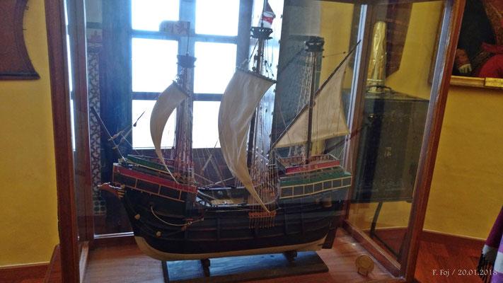 Maqueta de la Nao Victoria en la que embarcaron Magallanes y Elcano