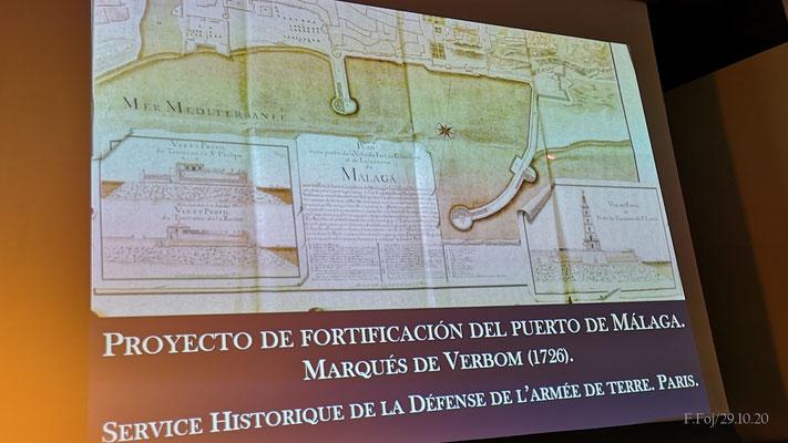 Uno de los numerosos planos presentados y explicados