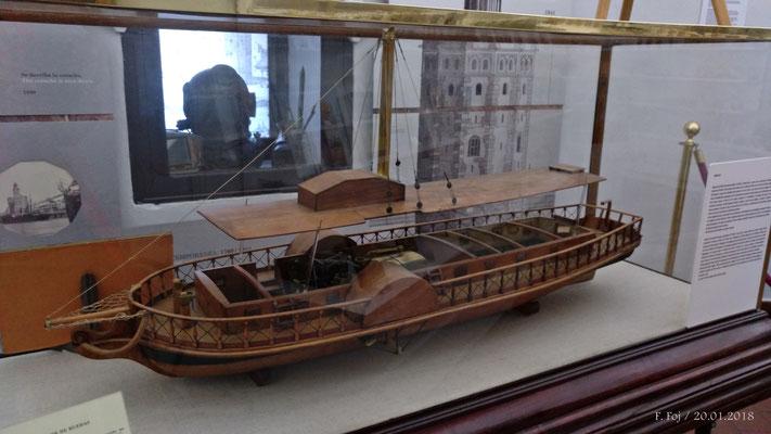 """El Real Fernando (1816), conocido por """"El Betis"""". Primer vaporde ruedas construido en España"""
