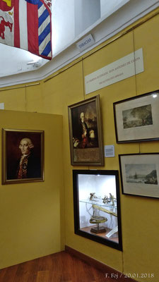 Jorge Juan entre los numerosos retratos de marinos ilustres