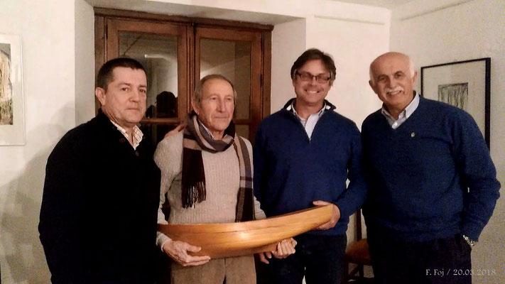 Rafael Segovia y Juan Alcaraz entre Pablo Portillo y Felipe Foj