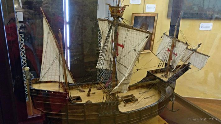 Nao Santa María. Nave capitana de Cristobal Colón en el descubrimiento de América