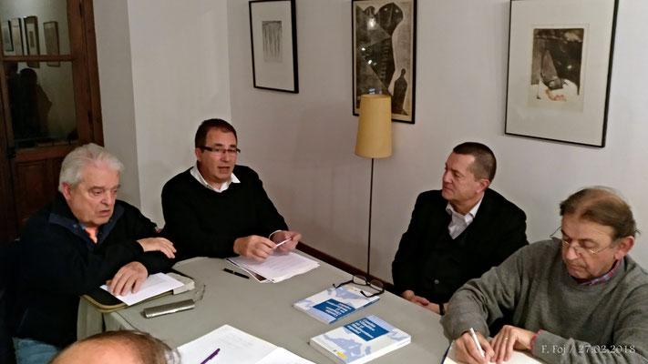 D. Félix Sánchez y D.Manuel Béjar junto a Pablo Portillo y J. Antonio Camiñas