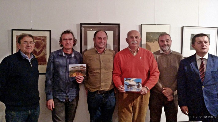 J. A. Camiñas, J. L. Mons, J. J. Martín, F. Foj, J. C. Cilveti y P. Portillo. Foto final.