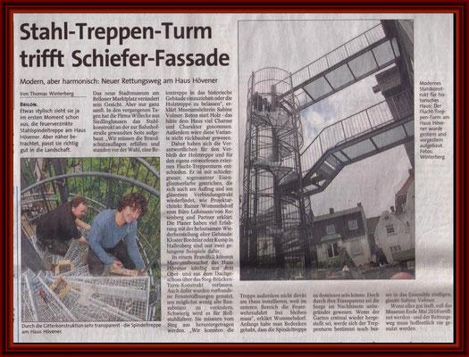WP- Artikel zum Fluchttreppenturm im Oktober 2010