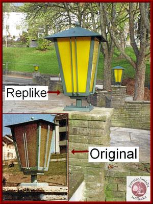 Replikenanfertigung der Parklampen aus den 60er Jahren für den Dr. Dutziakpark in Siegen