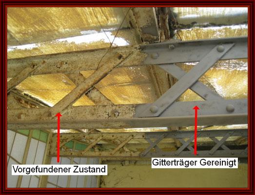 genieteter Fachwerkgitterträger der Dachkonstruktion