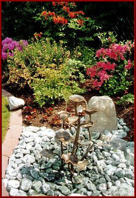 Bronzebrunnenanlage geschmiedet
