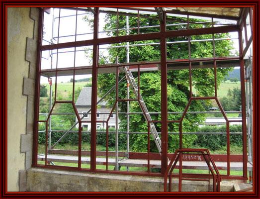 Ostseite der Veranda fertig konserviert