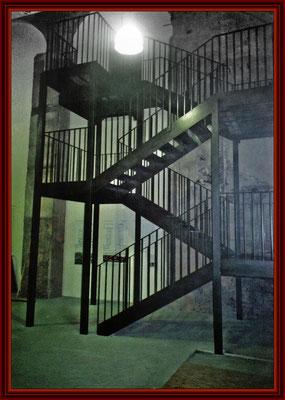 Treppenturm fertig montiert