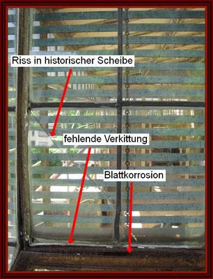 Verglasung der Ostseite von außen