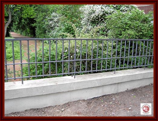 Zaun an der Südseite erstrahlt in all seiner Pracht nach erfolgreicher Restaurierung