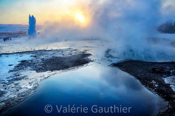 Geysir en hiver