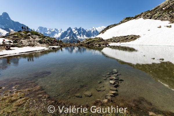 Montée au Lac Blanc - massif des Aiguilles Rouges
