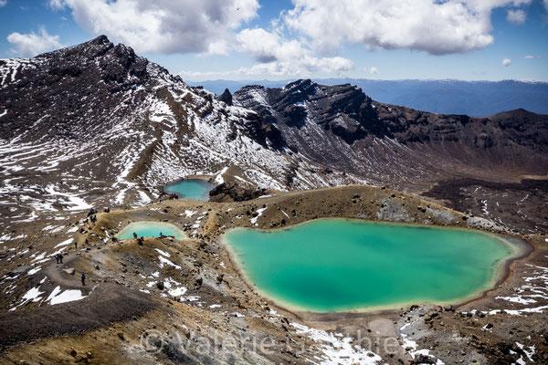 NOUVELLE ZELANDE - les lacs lacs émeraudes dans le massif du Tongariro