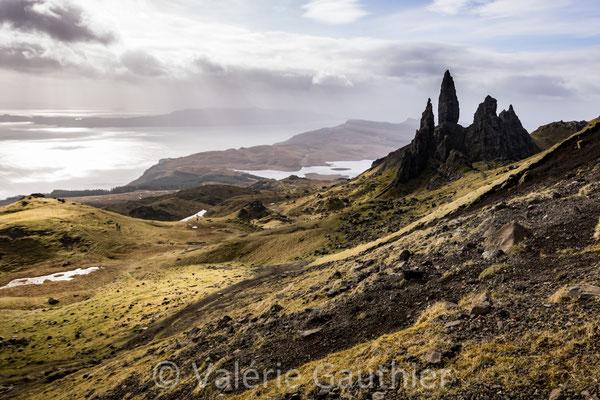 Old man of Storr sur l'île de Skye