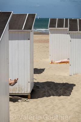 Cabines de plage à Ostende