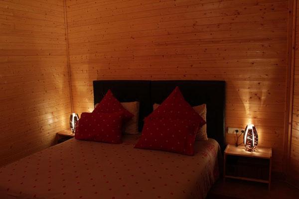 Vista de la luz ambient del dormitorio.