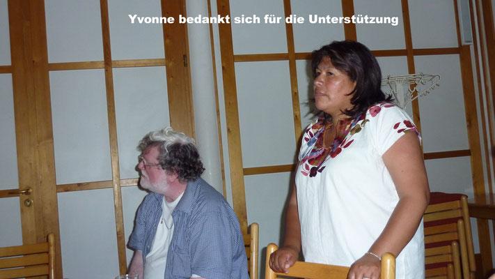 Yvonne bedankt sich für die Ünterstützung