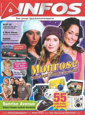 Sunrise Avenue: Foto auf Titel von S-Infos 1/2007, Jugendmagazin der Sparkassen in Deutschland.
