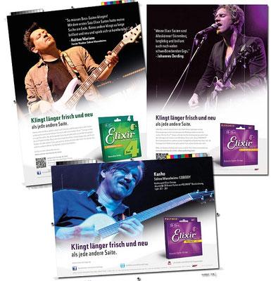 Anzeigen für Elixir Strings: Johannes Oerding, Kosho & Robbee Mariano (Söhne Mannheims)
