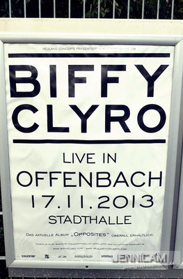 Keeping it simple. :) Biffy Clyro, Offenbach, 17.11.2013
