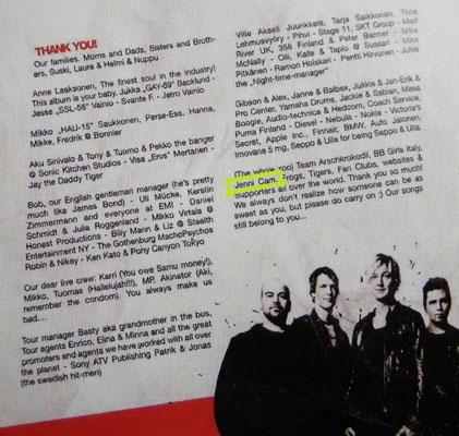"""Sunrise Avenue: Credits auf """"Popgasm"""", 2009"""