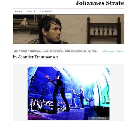 Johannes Strate/Revolverheld, Blog