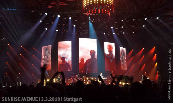 Some more pics, taken by mobile phone |  SUNRISE AVENUE, Stuttgart, 3.3.2018