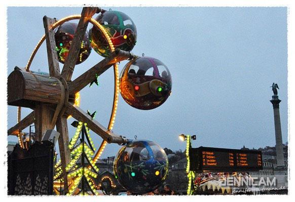 """""""Riesenrad"""" mit Fahrplan? ;) Weihnachtsmarkt Stuttgart, 22.12.2012"""