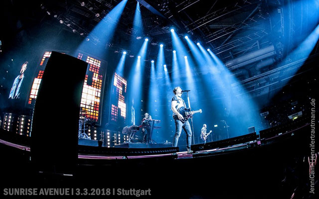 SUNRISE AVENUE, Stuttgart, 3.3.2018