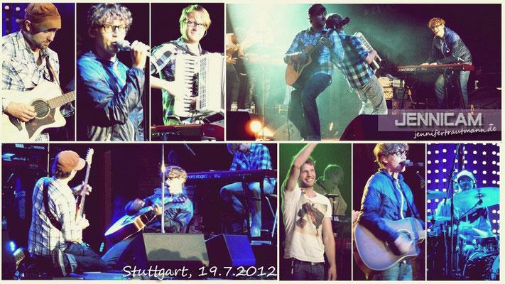 Tim + Band in Stuttgart, 19.7.2012. 1. Reihe, nicht Fotograben. ;)