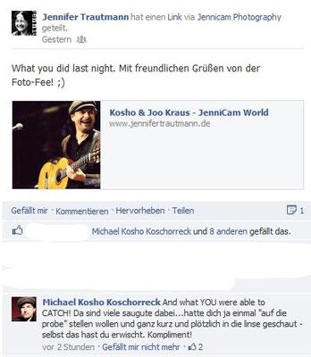 Michael Kosho Koschorreck. Facebook. 1/2013