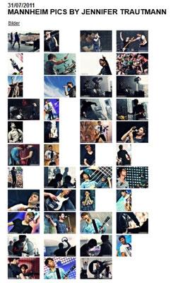 Revolverheld:  Konzertfotogalerien auf der Band-Website seit 2010, Beispiele