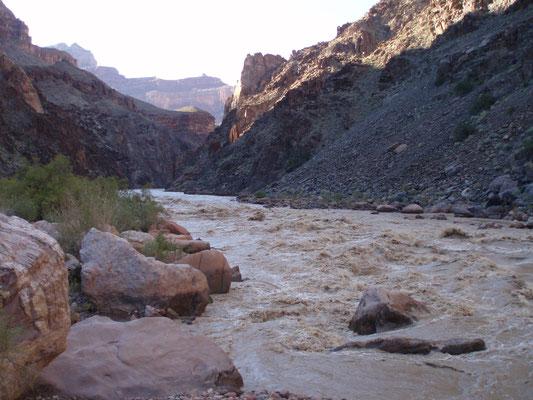 Hermit Rapids bei Hochwasser