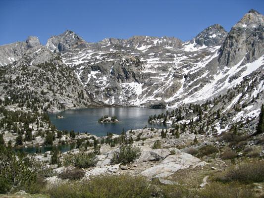 Blick zurück auf dem Weg ins Sixty Lake Basin