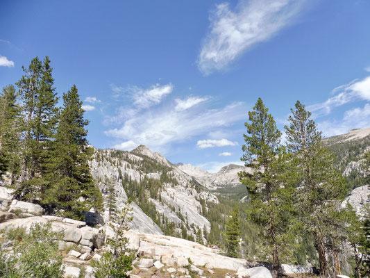 Während des Aufstiegs zu Silver Pass wurden die Panorama immer besser