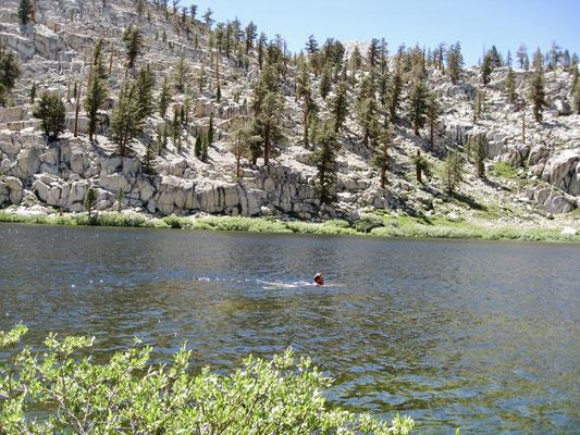 Ein Bad im Lower Soldier Lake