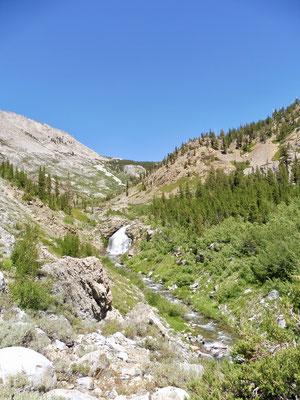 Der Anstieg von Woods Creek zu Twin Lakes war trocken, staubig und heiß