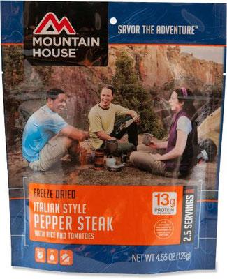 Auch Mountain House ist klasse und das Italian Pepper Steak eine Wucht.