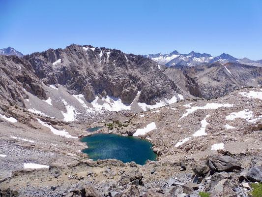Glen Pass hoch mit Blick zurück