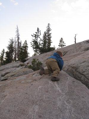 Perfekt zum Klettern, die Felsen geben viel Halt